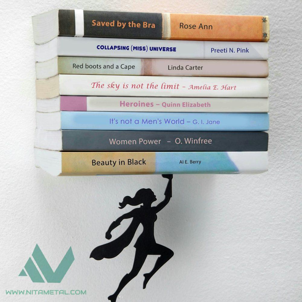 نگهدارنده کتاب دیواری نیتا متال طرح فرشته کد 102-2