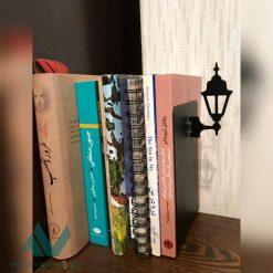 نگهدارنده کتاب نیتا متال طرح چراغ کلاسیک