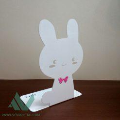 نگهدارنده (غشگیر) کتاب نیتا متال طرح خرگوش پاپیون صورتی