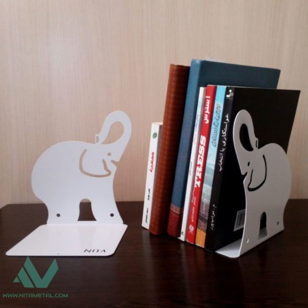 نگهدارنده کتاب نیتا متال طرح فیل