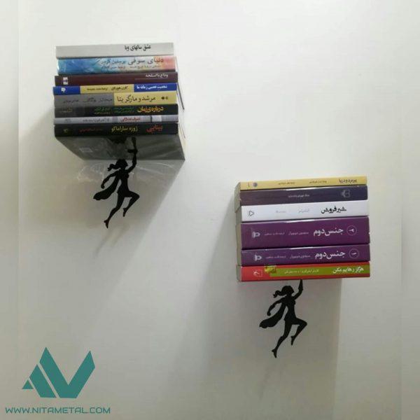نگهدارنده کتاب دیواری نیتا متال طرح فرشته