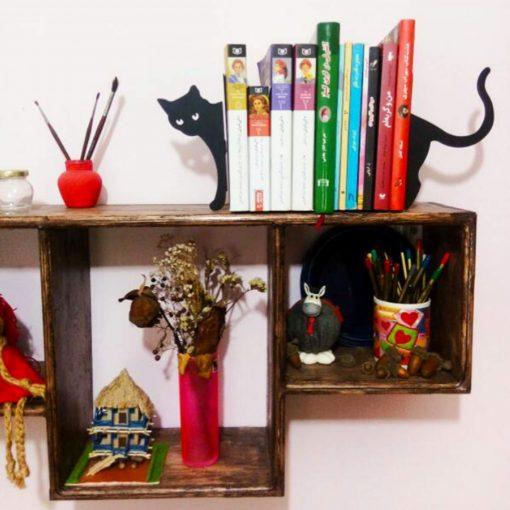 نگهدارنده کتاب نیتا متال طرح گربه