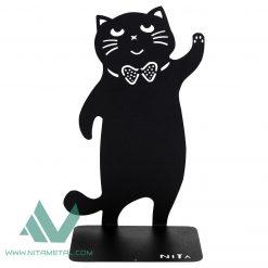 نگهدارنده کتاب نیتا متال طرح گربه پاپیونی