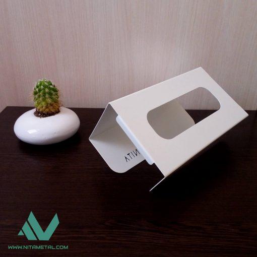 پایه دستمال کاغذی کابینتی نیتا متال